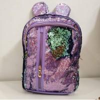 Tas Ransel Sekolah Cewek SD Flip Sequin Backpack spt justice smiggle