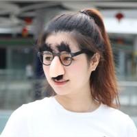 Set Kacamata Hidung Alis Kumis Palsu Mainan Kostum Prank Badut AHM151
