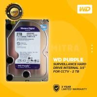 "WD Caviar Purple 2TB - HDD Hardisk Internal 3.5"" for CCTV Surveillance"