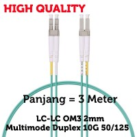 LC-LC OM3 Multimode Duplex 10G 2mm Fiber Optical / Optik Patch Cord