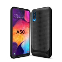 Samsung Galaxy A30 A50 Soft Case Matte Carbon