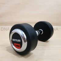 Dumbell Rubber Cover Chrome Fixed 7.5KG KETTLER - ORIGINAL
