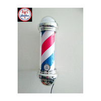 Lampu BarberShop - Barber pole pangkas rambut Menyala sambil berputar