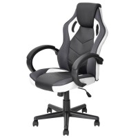 PROMO JYSK Kursi Gaming - Office Chair Linton Black White (Free EBEB
