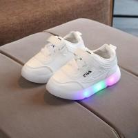 Sepatu SEPATU GLOSSY LED F1L4 21-36 / SEPATU ANAK FASHION SPORT CASUAL