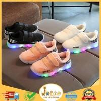 Sepatu 22-26 SEPATU SPORT CASUAL ANAK LAKI-LAKI / PEREMPUAN DENGAN LED