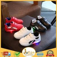 Sepatu SEPATU TEMPEL BAHAN PU LED ANAK UKURAN 21-30 Sepatu Anak
