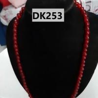 Kalung Panjang Tipe Satu Rantai Nuansa Merah Hati - DK253