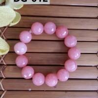 Gelang Batu Kerajinan Tangan Unik Berkelas Nuansa Pink - DG012