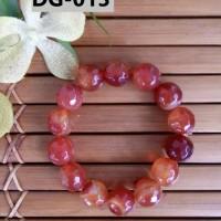 Gelang Batu Kerajinan Tangan Unik Berkelas Nuansa Merah Anggur - DG013