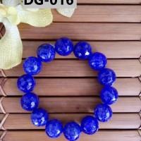 Gelang Batu Kerajinan Tangan Unik Berkelas Nuansa Biru Tua - DG016