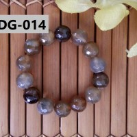 Gelang Batu Kerajinan Tangan Unik Berkelas Nuansa Merah Coklat - DG014