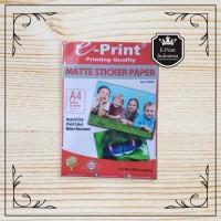 Kertas Stiker Matte Sticker Paper A4 Eprint 100gsm
