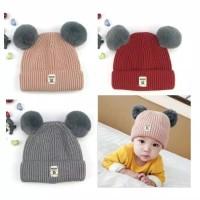 Topi Kupluk Bayi / Topi Kupluk Anak Rajut Warna Trendy