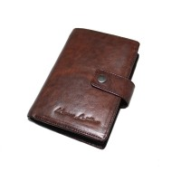Dompet Kulit Passport Nabati Brown - Kenes Leather