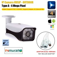 Ipcam 4Mp CCTV NVSIP 4K Ultra HD Outdoor Support POE Dustproof