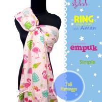 Ringsling / Gendongan Panjang dan Lebar Baby Al Motif Full Flaminggo