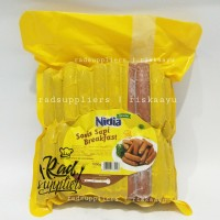 Nidia Beef Breakfast Sosis Hotel 1kg, Sosis Brokwust Mini 1kg Nidia