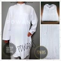 Premium Baju Koko Pakistan Setelan Muslim Pria Ihram Umroh Haji Putih