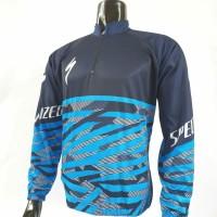 kaos jersey sepeda specialized hitam garis biru grade ori