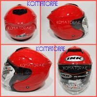 KUALITAS SUPER HELM INK DYNAMIC FIRE RED HALF FACE EOJZ