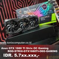 Asus GTX 1660 TI Strix OC Gaming / ROG-STRIX-GTX1660TI-A6G-GAMING