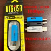 OTG Card Reader + USB Hub 2.0 Adapter Micro Original Android
