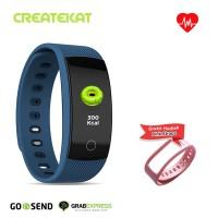 Createkat Smartwatch Pemantau Tidur Smart Band Tahan Air Biru Katfit1
