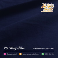 KAIN COTTON SEMI COMBED 24S NAVY BLUE ( KATUN KILOAN )