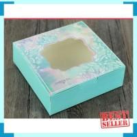 box kotak mika hijau lebaran natal imlek packaing kue sovenir