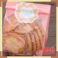 kantong packaging pink plastik bungkus roti cake cookies lebaran natal