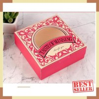 box merah kotak mika makan kue kering toples lebaran valentine natal