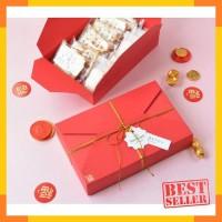 box merah kotak natal tahun baru christmas / lebaran sovenir