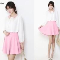 Discount Rok Pendek Mini Hitam Wanita Murah Flare Skirt Terlaris