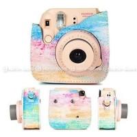 PROMO BESAR Fujifilm Leather Bag Polaroid Instax Mini 8 9 Tas Rainbo