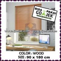 KRIS - VENETIAN BLINDS WOOD 90x180cm / BLIND ROLLER PVC TIRAI KERAI
