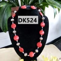 Kalung Batu Pirus Warna Pink - DK524