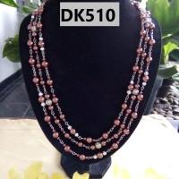 Kalung Motif Anggur TIngkat TIga Warna Purple - DK510