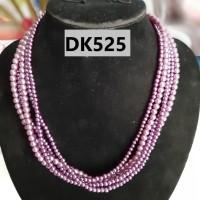 Kalung Batu Pirus Warna Purple Muda TIngkat TIga - DK525