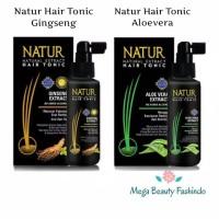 Natur Hair Tonic Tonik Gingseng - Aloevera Aloe Vera 90ML Backtonatur
