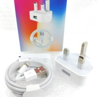Adaptor Charger + kabel Iphone 5 6 7 8 X plus Kaki 3 / Charger Iphone