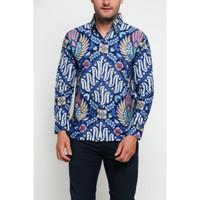 model baju kemeja batik pria slim fit modern 112