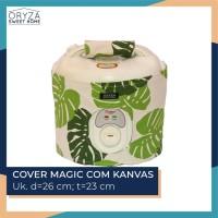 Tutup Sarung Cover Magic Com Rice Cooker - Motif Daun Monstera