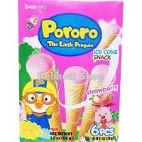 Basraq Pororo Little Pinguin Ice Cone Snack Strawberry | Stroberi 54gr
