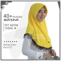 Jilbab Instan Pet Antem Tassel Size M / Hijab Pet Taseel M