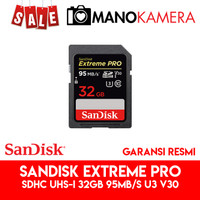 SD Card SanDisk Extreme Pro SDHC UHS-I 32GB 95MBps U3 V30