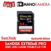 SD Card SanDisk Extreme Pro SDXC UHS-I 64GB 170MBps U3 V30