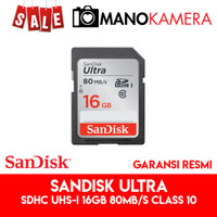 SD Card SanDisk Ultra SDHC UHS-I 16GB 80MBps Class 10
