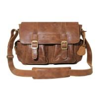 Messenger Bag Kulit Premium Zeus Havana Cracking