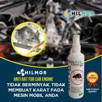 Pengusir Tikus Cairan Hilmor Anti Rat Spray 200 ml untuk kap mobil